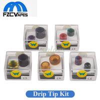 ingrosso doppia punta di gocciolamento-Aleader Drip Tip Kit Box Colorful 510 810 Cobra Ultem Punta a goccia in resina per TFV8 Baby TFV12 Prince TFV8 Ego Aio Series