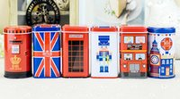 Wholesale cans candy boxes for sale - Group buy Home Garden new Metal Candy Telephone Booth Cans Storage Box Trinket Tin Jewelry Iron Tea Coin Storage Square Box Case