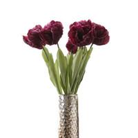 tulipas de seda laranja venda por atacado-tulipa de seda flowerstem size26.7 '' a bloom 3.1 '' diâmetro em creme branco rosa orange cor estilo alegre preço de atacado para o casamento do jardim