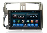 sistema de navegação toyota gps venda por atacado-A7 Quad Core Carro DVD Video Player de Áudio Sistema de Navegação Toyota Prado 2010 Automóvel Eletrônica Navegação GPS WIFN