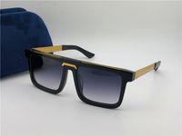 klasik stil plakaları toptan satış-Klasik vintage kare plaka çerçevesi erkekler tasarımcı güneş gözlüğü 0078 satış popüler basit retro tarzı en kaliteli uv40 lens koruma gözlük