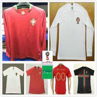Wholesale men long sleeve shirts - 2018 2019 Long Sleeve Soccer Jerseys #7 Vieirinha SILVA MIGUEL F.COENTRAO J.MOUTINHO NANI Customize Home Red White Football Shirt