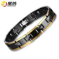 Hot Sales Fashion Jewelry Titanium Steel Healing Magnetic Bio Energy Bracelet para homens Pressure Pressure Pressure Wholesale