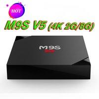 4k ultra hd tv großhandel-Android TV Box M9S V5 4K besser MXQ Pro Rockchip RK3229 Quad Core Ultra 4K TV Streaming Streaming Media Player WiFi HDMI