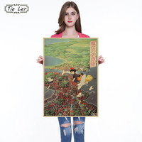 Wholesale indoor wallpaper - Classic Animation Movie Kiki's Delivery Service Kraft Paper Poster Indoor Decoration Wall Sticker Painting Wallpaper 36 X 51.5cm
