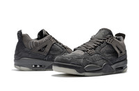 Wholesale cool skateboarding shoes - 2018 New Arrival KAWS X 4 XX Air Shoes Cool Black Grey Men Basketball Shoes 749347 VI Basketball Sneakers High Quality US 7-12