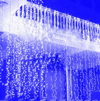 ingrosso luci blu icicles-4.5 m * 3 m capodanno natale ghirlanda led stringa ghiacciolo luce interna coperta per la festa tenda da sposa bianco caldo / rgb / blu
