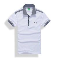 camisas formales de marca para hombres al por mayor-Polos para hombre Manga corta Diseñador de bordados 3D Marca Luxur polo camisetas cortas de solapa Camisetas Camiseta formal para hombre Slim.