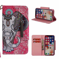 Wholesale elephant cases for sale – best Cute Panda Elephant Wolf PU leather wallet Case with Kickstand and Flip Cover for X XS Max XR inch S Plus S7 S8 S9 Note