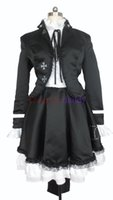 Wholesale police woman cosplay resale online - Vocaloid Secret Police Hatsune Miku Black Cosplay Costume H008