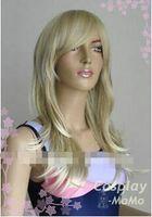 uzun doğal sarışın kıvırcık peruk toptan satış-Ücretsiz kargo + + + + Doğal Koyu Sarışın Uzun Patlama Çevirme Kıvırcık Cosplay Parti Saç Peruk