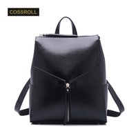Wholesale layer school bags - Backpack Natural Soft Real Leather Backpacks Genuine First Layer Cow Leather Top Layer Cowhide Women Backpack School Bags