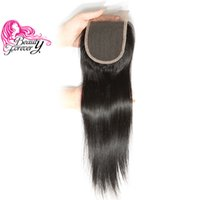 Wholesale Silk Top Lace Closures - Beauty Forever 8A Malaysian Silk Straight Lace Closure 10-20inch Unprocessed 4*4 Top Closure Natural Color Human Hair Lace Closure Wholesale