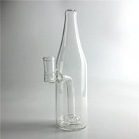 Wholesale glass bottles for water - 14mm Female Glass Bong Water Bongs with 7.5 Inch Thick Pyrex Clear Beer Bottle Recycler Heady Beaker Bong for Smoking