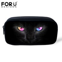 Wholesale kitty makeup bag for sale - Group buy Ladies Cosmetic Bag Hot selling Women Travel Makeup Case Fashion Black Kitty Cat Kid Girl Pencil Case Storage Pouch