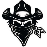 miroir de bande dessinée garçons achat en gros de-Western Cowboy Robber Boy Fille Autocollant De Voiture Vinyle Emballage Cool Graphic Decorative Character