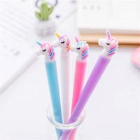 dulces bolígrafos regalos al por mayor-0.5mm Candy Color Cartoon Gel Pen Plumas de gel de sílice School Office Stationery Supply Regalo promocional para niños Gifts