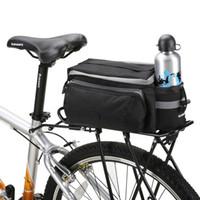 bolsas de almacenamiento de asiento de bicicleta al por mayor-ROSWHEEL Bolsa para transporte de bicicletas 13L Rack Maletero para bicicleta Alforja de asiento trasero Al aire libre Ciclismo Bolsillo para almacenamiento Hombro Strip 14024