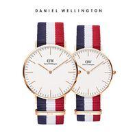 relógio cinto de nylon venda por atacado-Top fashion daniel wellington dos homens e das mulheres ultra-fino à prova d 'água senhoras relógio de quartzo com simples cinto de nylon relógio Relogio masculino