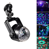 Wholesale magic crystal ball led remote - IR Remote RGB LED Crystal Magic Rotating Ball Stage Light 4m USB 5V Colorful ktv DJ light disco light Party Effect
