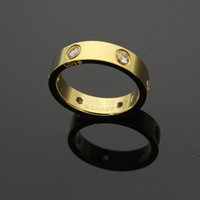 Wholesale fashion jewerly rings - Fashion jewerly 316L Titanium Steel 18K rose gold plated carter screw love Ring For Women man wedding Ring 18K Gold plated Fine jewelry