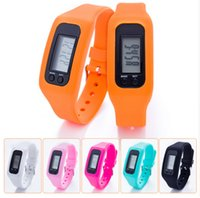 Wholesale calorie walking pedometer resale online - Digital LED Pedometer Smart Multi Watch silicone Run Step Walking Distance Calorie Counter Watch Electronic Bracelet Pedometers