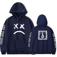 moda rahat erkek hoodies toptan satış-Lil Peep Hoodies Erkekler Tişörtü Kapşonlu Kazak Uzun Kollu Siyah Rahat Moda Rapçi Hip Hop Tişörtü