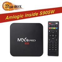 mini caja internet tv al por mayor-MXQ Pro 4K Android 7.1 TV Box 1GB 8GB Amlogic S905W Quad Core Reproductor multimedia con transmisión por secuencias Internet wifi Box S905W TX3 x96 mini