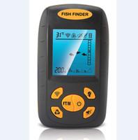 ingrosso fishfinder fishfinder-Portable LCD Fish Sonar Ecoscandaglio Finder Allarme Sonda Fish Detector Ultrasuoni Wireless Fishfinder Elettronico Attrezzatura da pesca Strumento esca