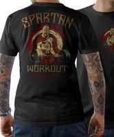 Wholesale xs power - 2018 Fashion T-Shirt - SPARTAN WORKOUT - Fitness Bodybuilding Power no. Pain Gain S-5XL Tee shirt