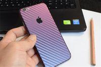 Wholesale carbon fiber phone sticker - Carbon Fiber Phone Protector Sticker For iPhone 6 7 8 Gradient Color Fashion Phone Back Body Protectors iPhone X Phone Premium Quality