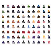 ingrosso cappelli da team di beanie-2018 Berretti da baseball Berretti da baseball Berretti sportivi Mix Match Ordina 18 squadre Tutti i tappi in stock Cappello in maglia Cappello di alta qualità Più di 5000 + stili