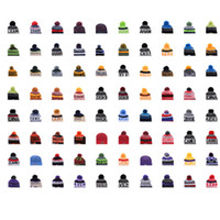 Wholesale stocking hats men resale online - 2018 Team Beanies Caps Pom Sports Hats Mix Match Order Teams All Caps in stock Knit Hat Top Quality Hat More Styles