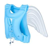 ingrosso giacche gonfiabili per bambini-Gonfiabile Angel Wings Life Vest Bambino regolabile Costume da bagno Piscina Galleggiante Piscine per bambini Nuoto Drifting Bambini giubbotto salvagente