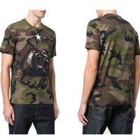Wholesale Mens Camouflage Shirt Xl - Paris Luxury t shirts Mens Animal Printed Camouflage Tee T-shirts European American Designer Camo New 2018 Monkey Brothers jersey tshirt