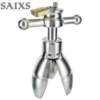 Wholesale adult appliance resale online - Anal Stretching open tool Adult SEX Toy Stainless Steel Anal Plug With Lock Expanding Ass Appliance Sex Toy Drop shipping Y1892002