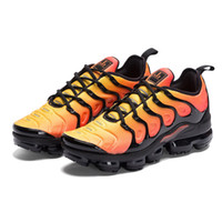 Wholesale red black shoe laces - HOT SALE 2018 New Vapormax TN Plus VM In Metallic Olive Women Men Mens Running Designer Luxury Shoes Sneakers Brand Trainers
