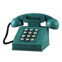 ingrosso resina di banana-Banane giocattolo in resina Pulsante verde retro bottone Telefono moneta Banca salvadanaio Banca telefonica risparmio - per bambini e adulti
