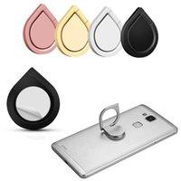 telefonhalter wasser großhandel-Metall Wassertropfen Ringhalter Handy Ringhalter 360 ° Spinner Smartphone Universal Metallhalter für I6 I7 Galaxy S8 S8edge S7edge Note8
