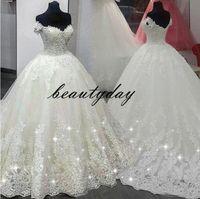 Wholesale dresses for church for sale - Group buy Wedding Dresses For Nigerian Bride Vintage Church A line Wedding Dress Bridal Gown Off Shoulder Plus Size Zipper back