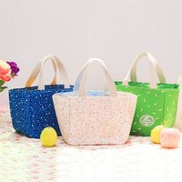 Wholesale wholesale brown rice - Portable Bento Lunch Boxes lunch bag cassette rice rope bag large tote box beam student insulation bag T4H0212