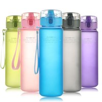 Wholesale home drinking water - Frosted BPA Leakproof Sports Water Bottle Tour Hiking Portable My Favorite Drink Bottles 400ml 560ml Home Cups DDA605