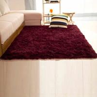 alfombra de sandia al por mayor-DECORACIÓN 60 * 120 cm / 80 * 120cm / 120 * 160cm de Soild Alfombras Dormitorio Decoración puerta de la estera del piso de la alfombra Alfombras colorida caliente Sala de estar