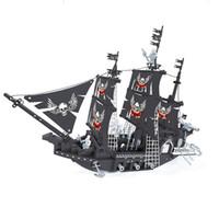 Wholesale toy building block pirates - AUSINI27903 714Pcs building blocks pirate series The Black Pearl 3D Construction Brick Educational toys for children