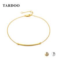 pulseras de cadena fina al por mayor-Tardoo Thin Long Stick Bracelets 925 Geometría de plata esterlina Charm Bracelet para las mujeres joyería fina Simple Chain Link pulseras