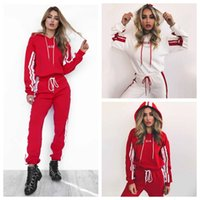 Wholesale hoodies pants sports wears - 2pcs set Women Tracksuit Short Hoodies Sweatshirt Pants Sets pattern Sport Wear Casual Sweat Long Sleeve Maternity jumpsuit GGA150 30sets