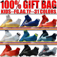 Wholesale Girls Youth Boots - Girls Kids Soccer Cleats Ronaldo Mercurial Superfly CR7 V FG AG ACC Neymar Soccer Shoes Boys Youth Womens Indoor TF Magista Football Boots