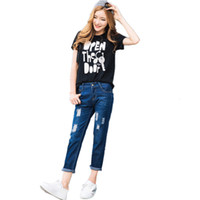 джинсы фабричной фабрики оптовых-B1297 hot sale 2017 new women spring autumn fashion Hole skinny jeans cheap wholesale Factory direct sale