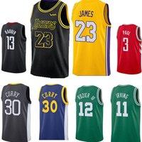 Wholesale 13 basketball jersey - New 23 James 11 Kyrie Irving 30 Stephen Curry 13 James Harden 3 Chris Paul Men's Basketball Jerseys S-XXL