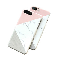 Wholesale shell korean - Korean creative marble phone case for iPhone 6 phone shell for 6s   7 plus frosted hard shell back cover